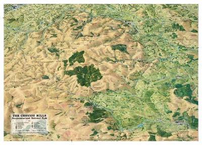 Cheviot Hills: Northumberland National Park - Panoramic Map (Sheet map, folded)