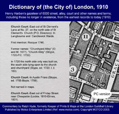 Dictionary of (the City Of) London, 1910: Henry Harben's Gazeteer of 6000 Street and Other Names and Terms (CD-ROM)