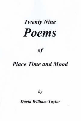 Twenty Nine Poems of Place Time and Mood (Paperback)