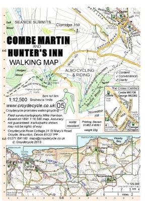 Combe Martin and Hunter's Inn Walking Map (Sheet map, folded)