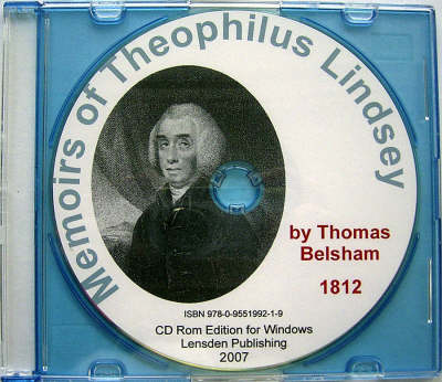 Memoirs of Theophilus Lindsey (CD-ROM)