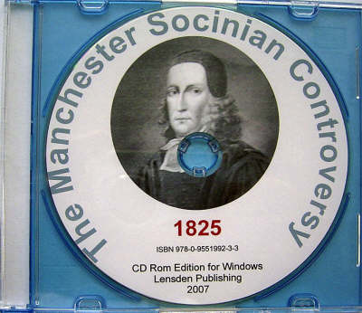 The Manchester Socinian Controversy (CD-ROM)