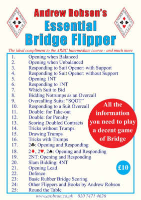Andrew Robson's Essential Bridge Flipper - Bridge Flipper (Spiral bound)