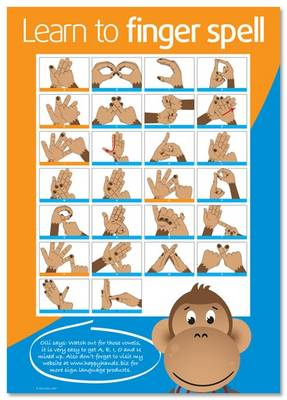 Learn to Finger Spell: How to Finger Spell the British Sign Language Manual Alphabet (Sheet map, rolled)