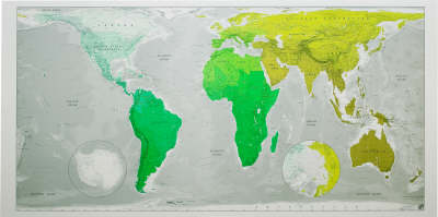 Future Map: Huge World Wall Map - Plastic Tubed by Marcus Kirby    Waterstones