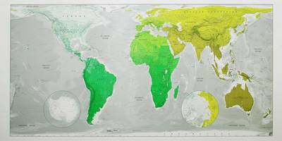 Future Map: Huge World Wall Map - Magnetic Tubed: An Equal Area Projection (Sheet map, rolled)