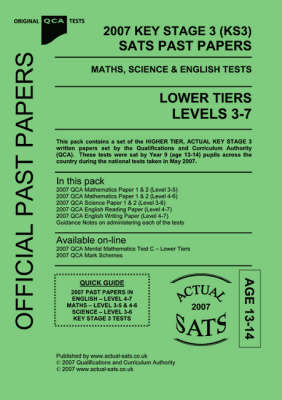2007 Key Stage 3 (KS3) QCA SATS Past Papers Maths, Science & English Tests:  Level 3-7 | Waterstones