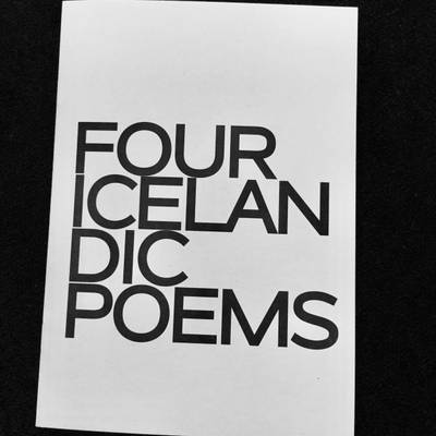 Four Icelandic Poems 2016