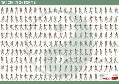 Tai Chi in 24 Forms (Wallchart)