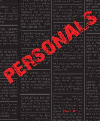 Personals: Desires in Print (featuring the Photography of Steve DT) (Paperback)