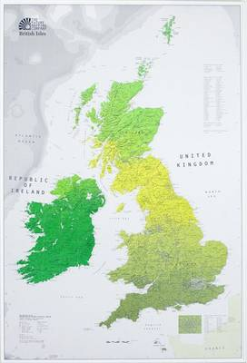The British Isles: Administrative Regions and Physical Shading (Sheet map)