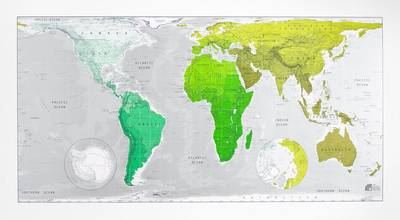 Future Map: World Wall Map - Plastic Tubed Version 1: An Equal Area Projection (Sheet map, rolled)