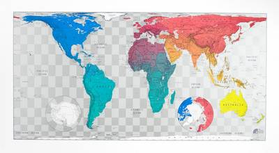 Future Map: World Wall Map - Plastic Tubed Version 3: An Equal Area Projection (Sheet map, rolled)