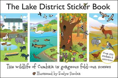 The Lake District Sticker Book: The Wildlife of Cumbria in Gorgeous Fold-Out Scenes (Paperback)