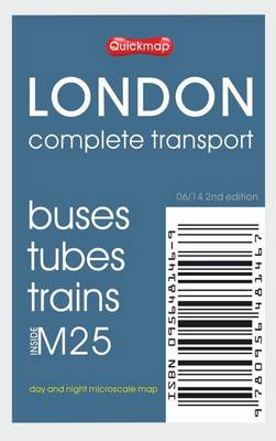 London Complete Transport: Microscale Map of Buses Tubes Trains Inside M25 - All-On-One Basic Edition (Sheet map, folded)