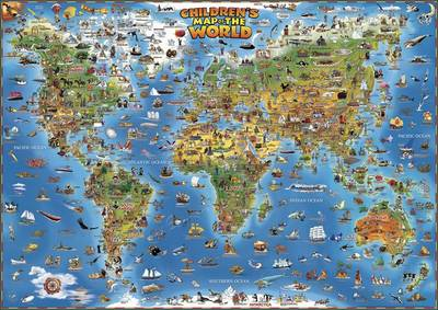 Children's Map of the World - Dino's Maps (Sheet map, rolled)