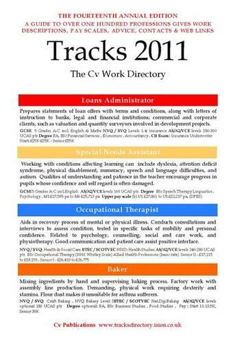 Tracks 2011 2011: The CV Work Directory - Tracks Directory S. 14 (Paperback)