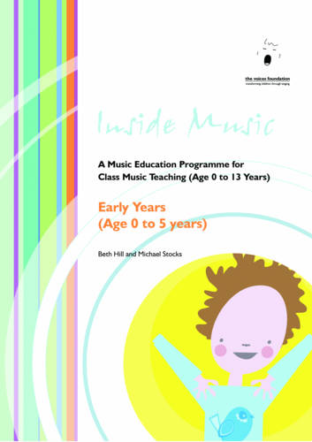 Inside Music: A Music Education Programme for Class Music Teaching Early Years (age 0 to 5 Years) (Paperback)