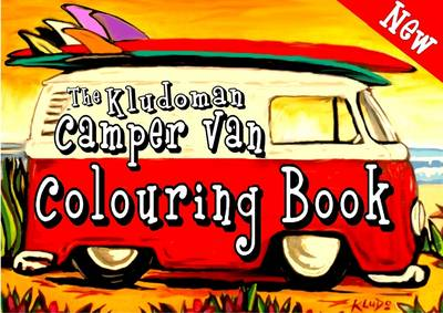 The Kludoman Camper Van Colouring Book (Paperback)