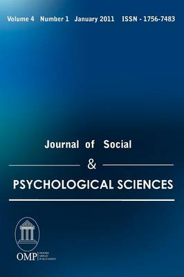 Journal of Social & Psychological Sciences (Paperback)