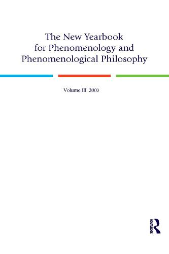 The New Yearbook for Phenomenology and Phenomenological Philosophy: Volume 3 (Paperback)