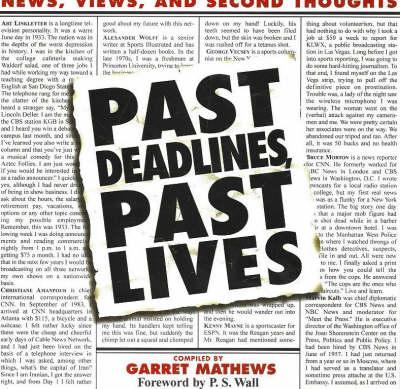 Past Deadlines, Past Lives (Paperback)