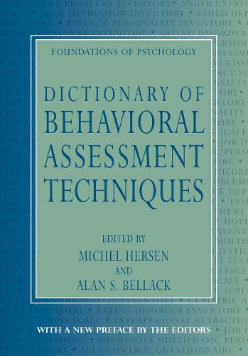Dictionary of Behavioral Assessment Techniques - EWP Foundations of Psychology (Paperback)