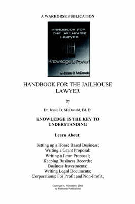 Handbook for Jailhouse Lawyers (Paperback)