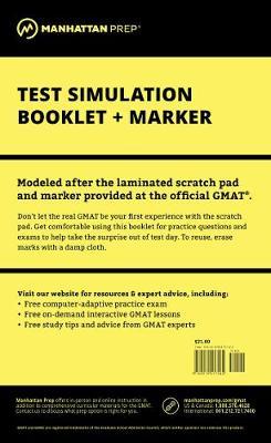Manhattan Prep GMAT Test Simulation Booklet - Manhattan Prep GMAT Strategy Guides (Spiral bound)