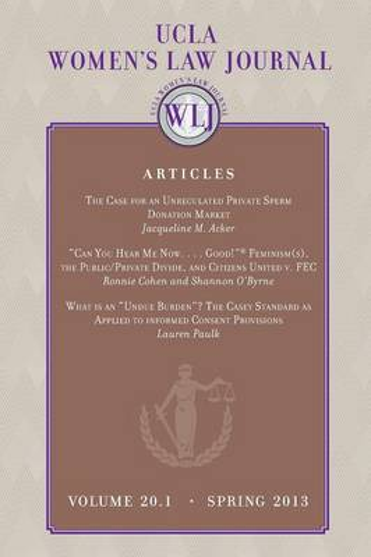 UCLA Women's Law Journal (Volume 20.1) Spring 2013 (Paperback)