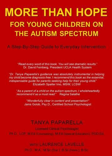 More Than Hope: For Young Children on the Autism Spectrum (Paperback)