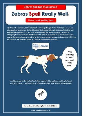 Zebras Spell Really Well: Sound to Letter 2018: new improved 2018 - Spelling Programme 1 (Spiral bound)