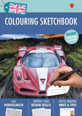 Colouring Sketchbook: Blue (Paperback)
