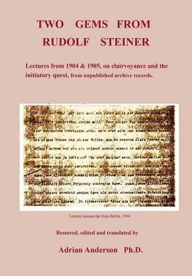 Two Gems from Rudolf Steiner (Paperback)