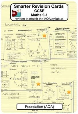 Smarter Revision Cards - GCSE Maths 9-1 Foundation (AQA): Written to match the AQA Foundation syllabus