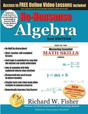 No-Nonsense Algebra, 2nd Edition: Part of the Mastering Essential Math Skills Series (Paperback)