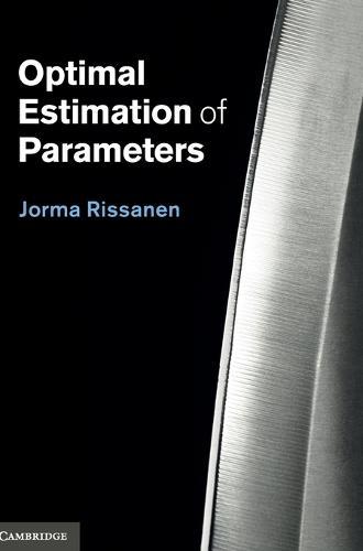 Optimal Estimation of Parameters (Hardback)