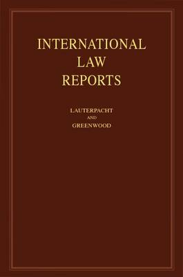 International Law Reports: Volume 146 (Hardback)