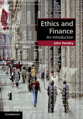 Ethics and Finance: An Introduction - Cambridge Applied Ethics (Hardback)