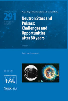 Neutron Stars and Pulsars (IAU S291): Challenges and Opportunities after 80 Years - Proceedings of the International Astronomical Union Symposia and Colloquia (Hardback)