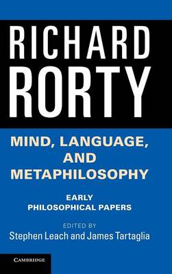 Mind, Language, and Metaphilosophy: Early Philosophical Papers (Hardback)