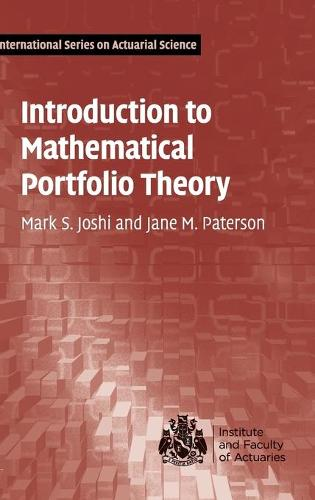 Introduction to Mathematical Portfolio Theory - International Series on Actuarial Science (Hardback)