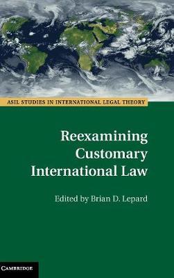 Reexamining Customary International Law - ASIL Studies in International Legal Theory (Hardback)