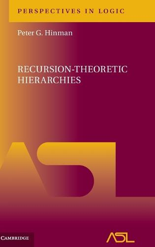 Recursion-Theoretic Hierarchies - Perspectives in Logic 9 (Hardback)