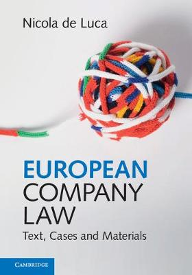 European Company Law: Text, Cases and Materials (Hardback)