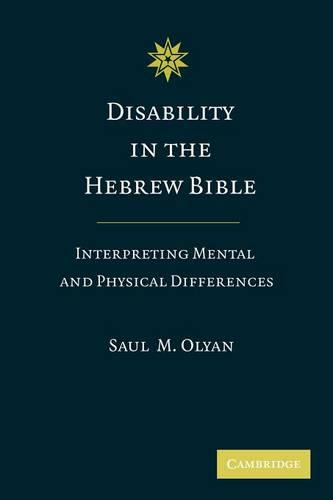 Disability in the Hebrew Bible: Interpreting Mental and Physical Differences (Paperback)
