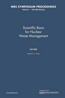 Scientific Basis for Nuclear Waste Management IV: Volume 6 - MRS Proceedings (Paperback)