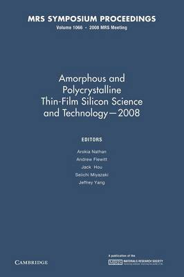 Amorphous and Plycrystalline Thin-Film Silicon Science and Technology - 2008: Volume 1066 - MRS Proceedings (Paperback)