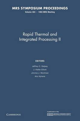 Rapid Thermal and Integrated Processing II: Volume 303 - MRS Proceedings (Paperback)