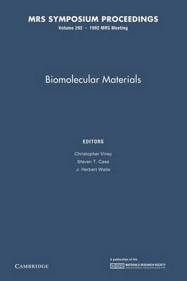 Biomolecular Materials: Volume 292 - MRS Proceedings (Paperback)
